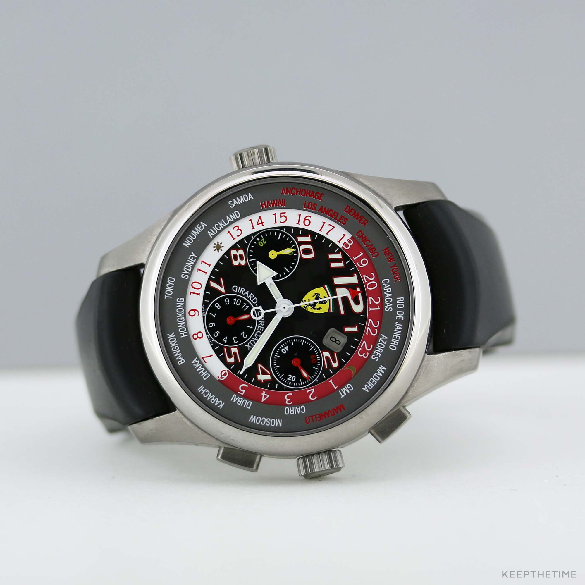 Girard perregaux ww tc ferrari 50 years in usa world time for Girard perregaux