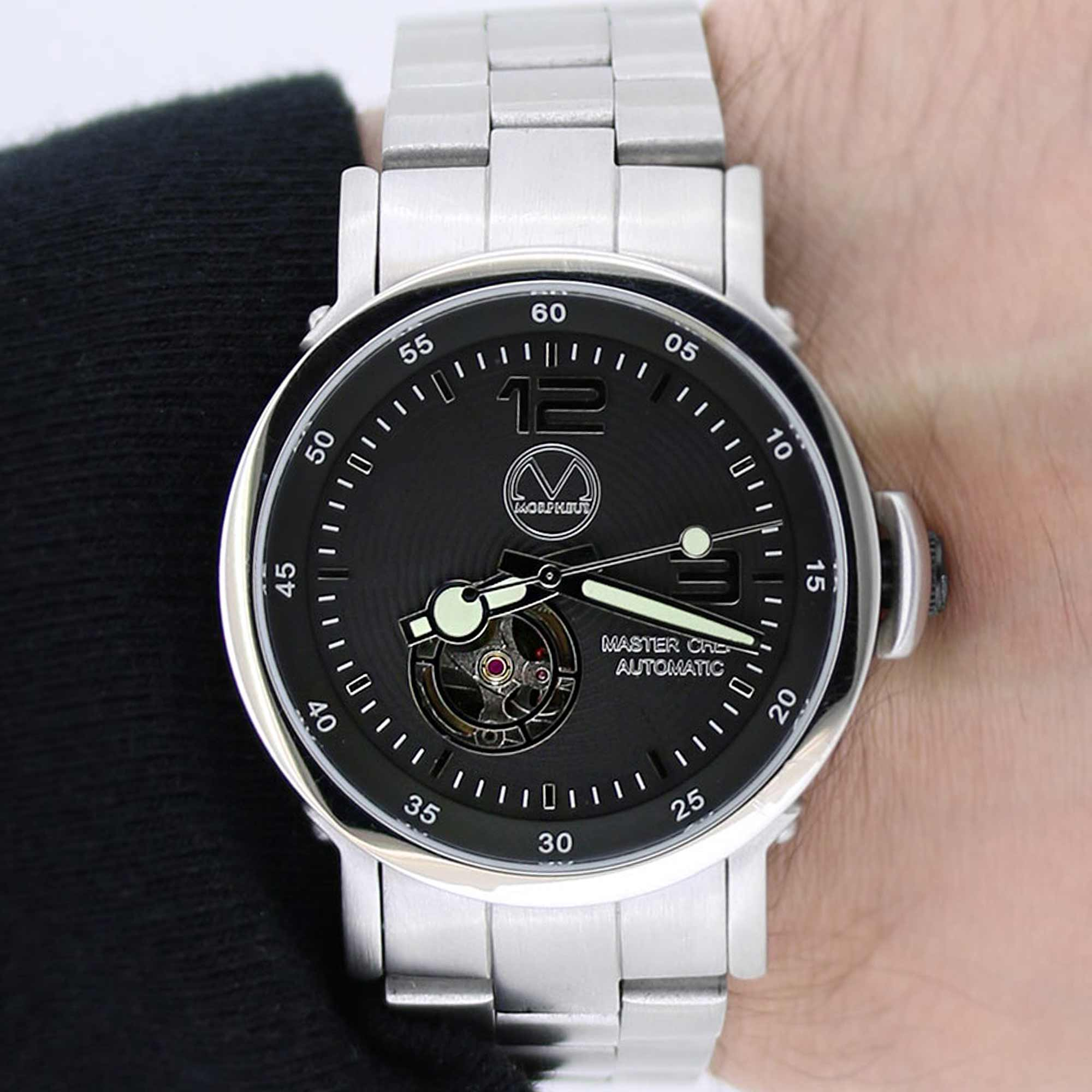 leather unisex gents watch wristwatch silver bracelet watches ladies black b with strap product talking gentsladies isightcornwall or