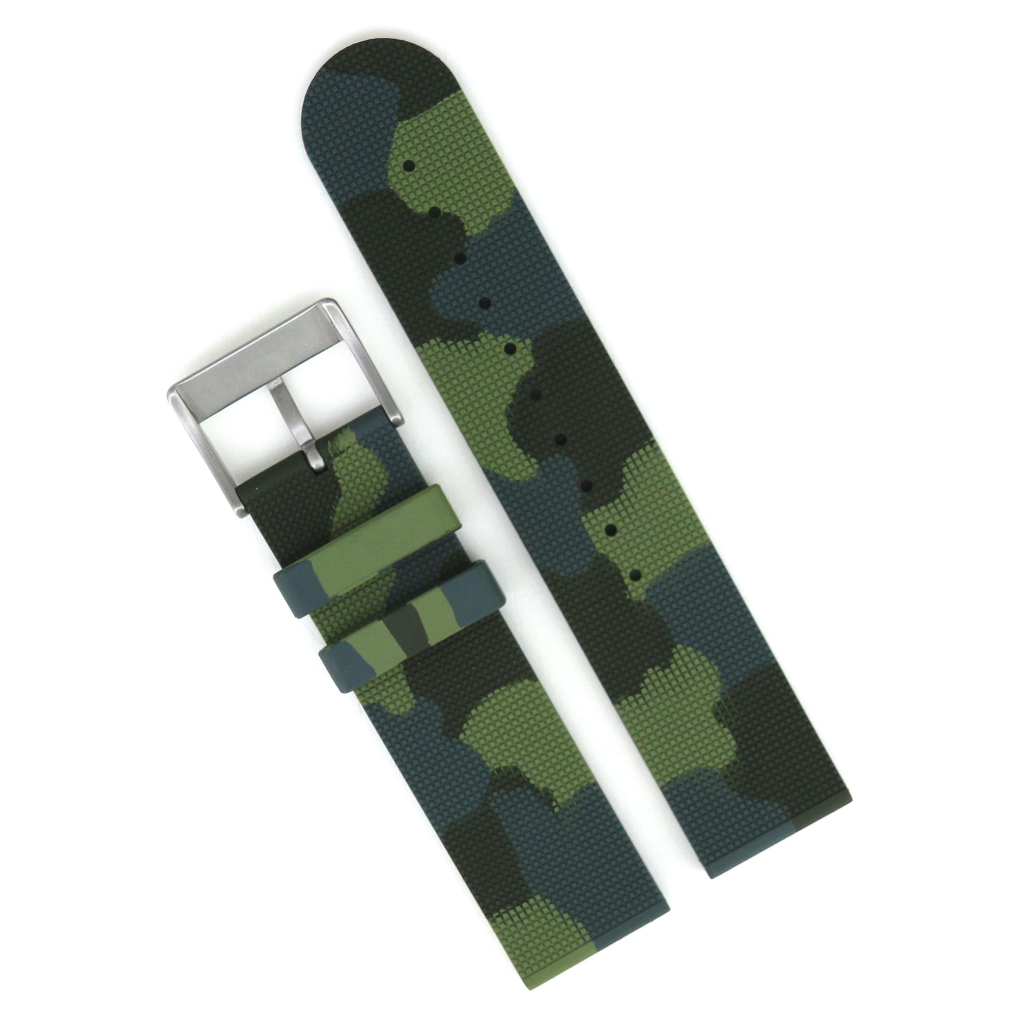 Haigh & Hastings Rubber Camo Strap   22mm