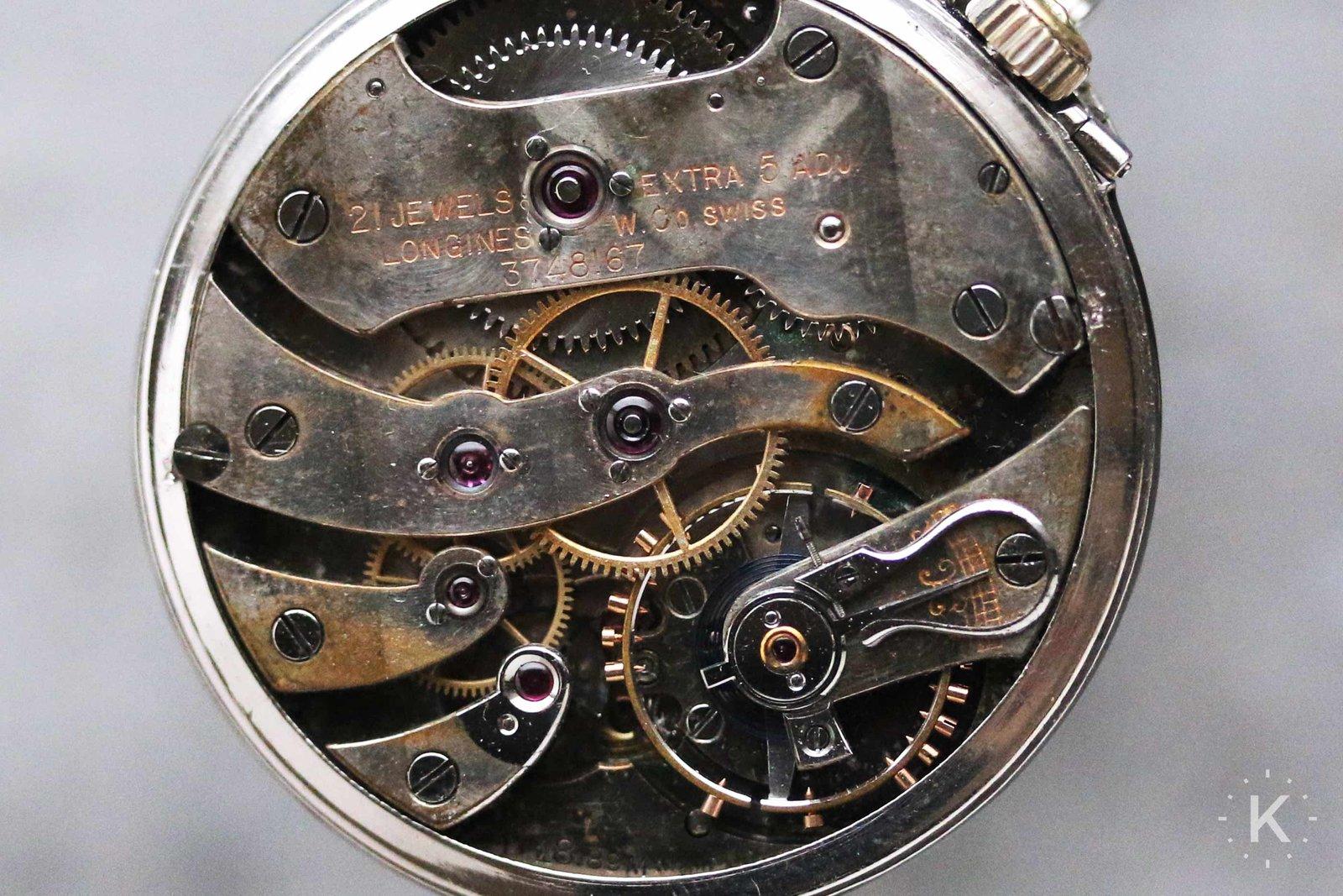 1918 Longines Platinum Pocket Watch
