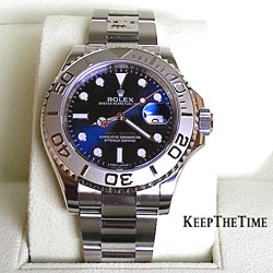 Rolex 116622 Yachtmaster Blue Dial Steel Platinum
