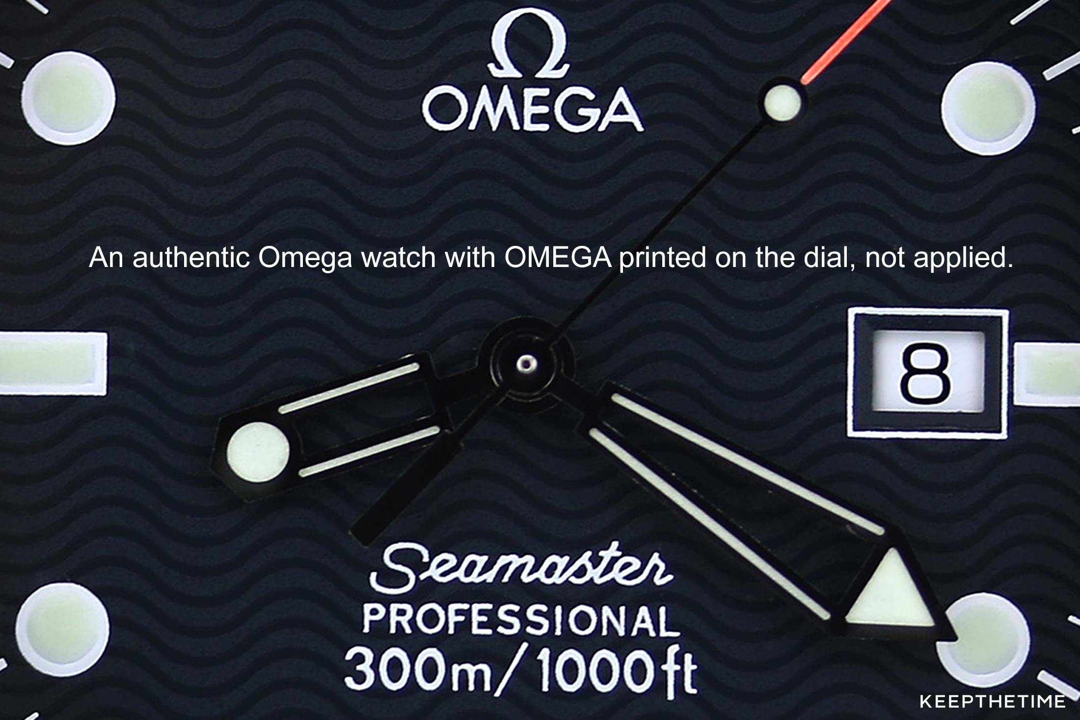 Authentic Omega Dial With Printed Logo