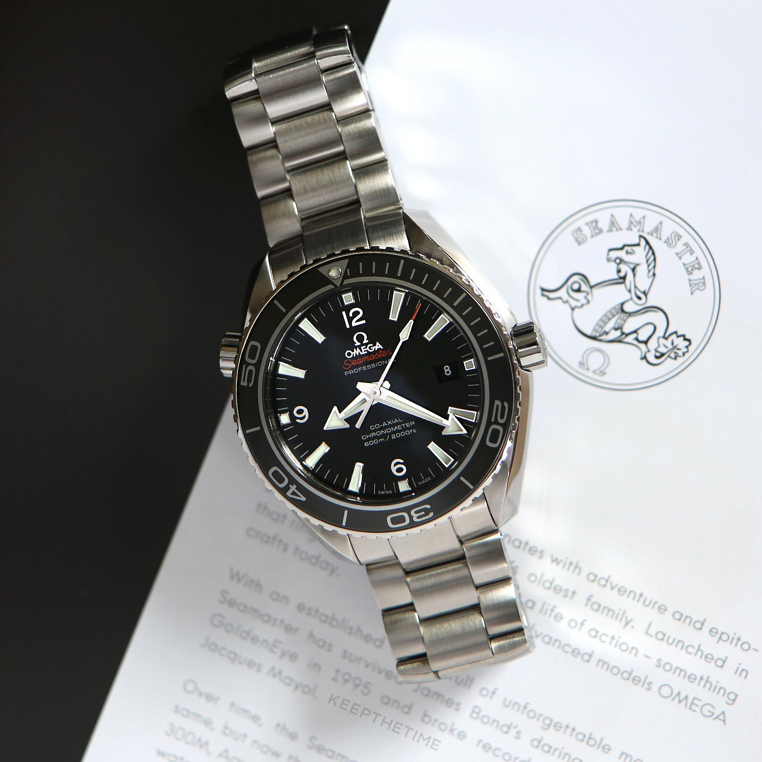 hamilton watches watch ocean titanium seamaster planet in omega inches