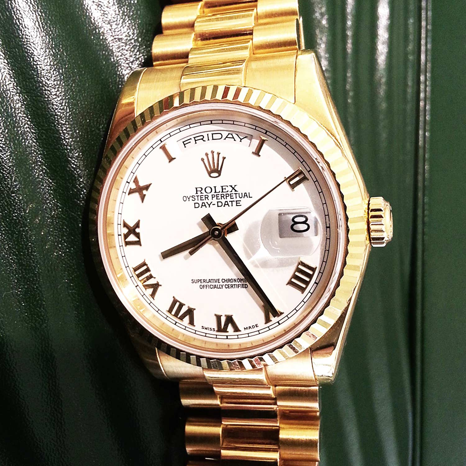 day owned rolex presidential left store online date uk pre watches shop buy daydate