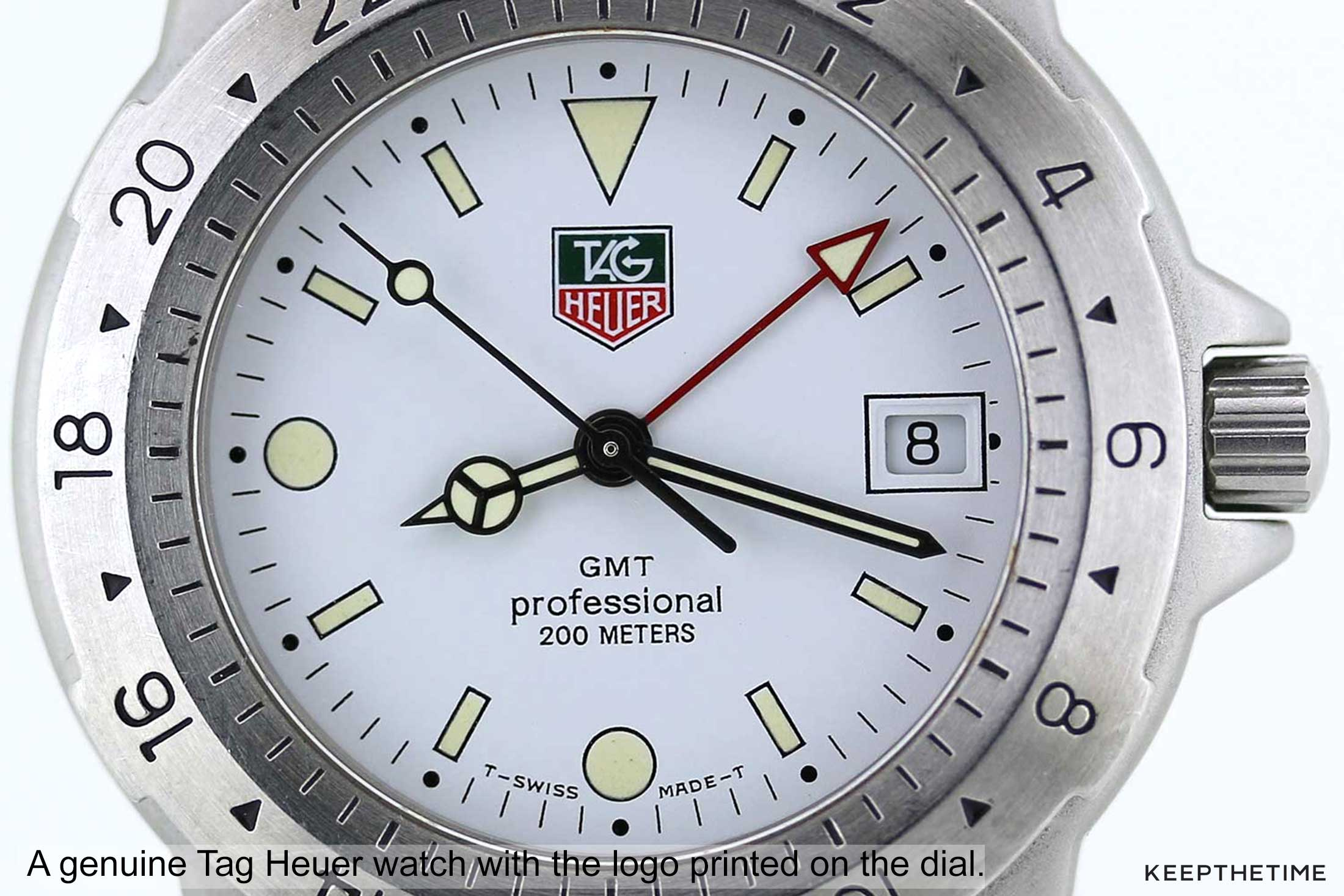 Tag Heuer Logo Printed On Dial