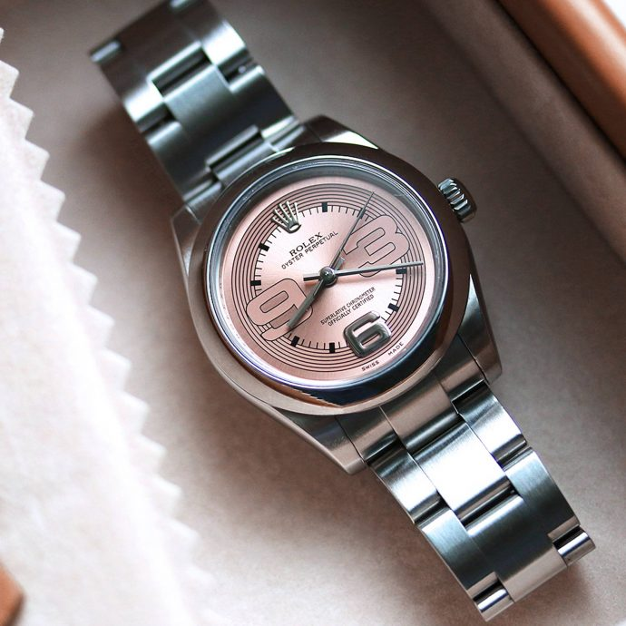 Ladies Rolex Oyster Perpetual 31 Pink Dial