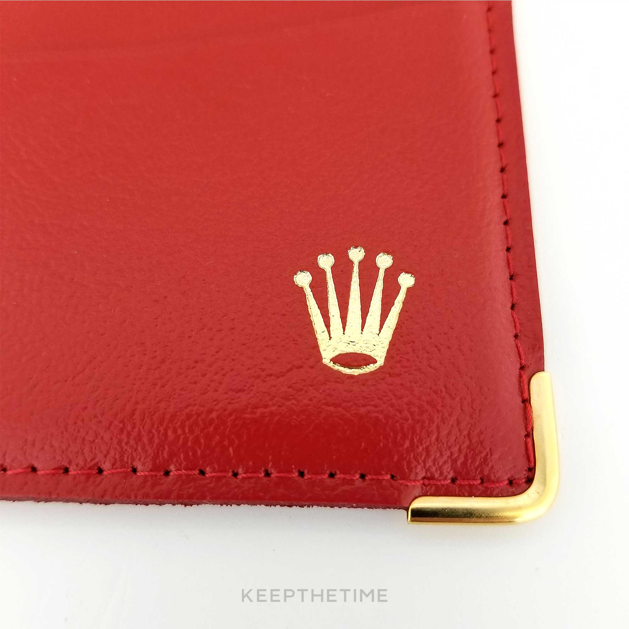 Rolex Red Leather Card Holder