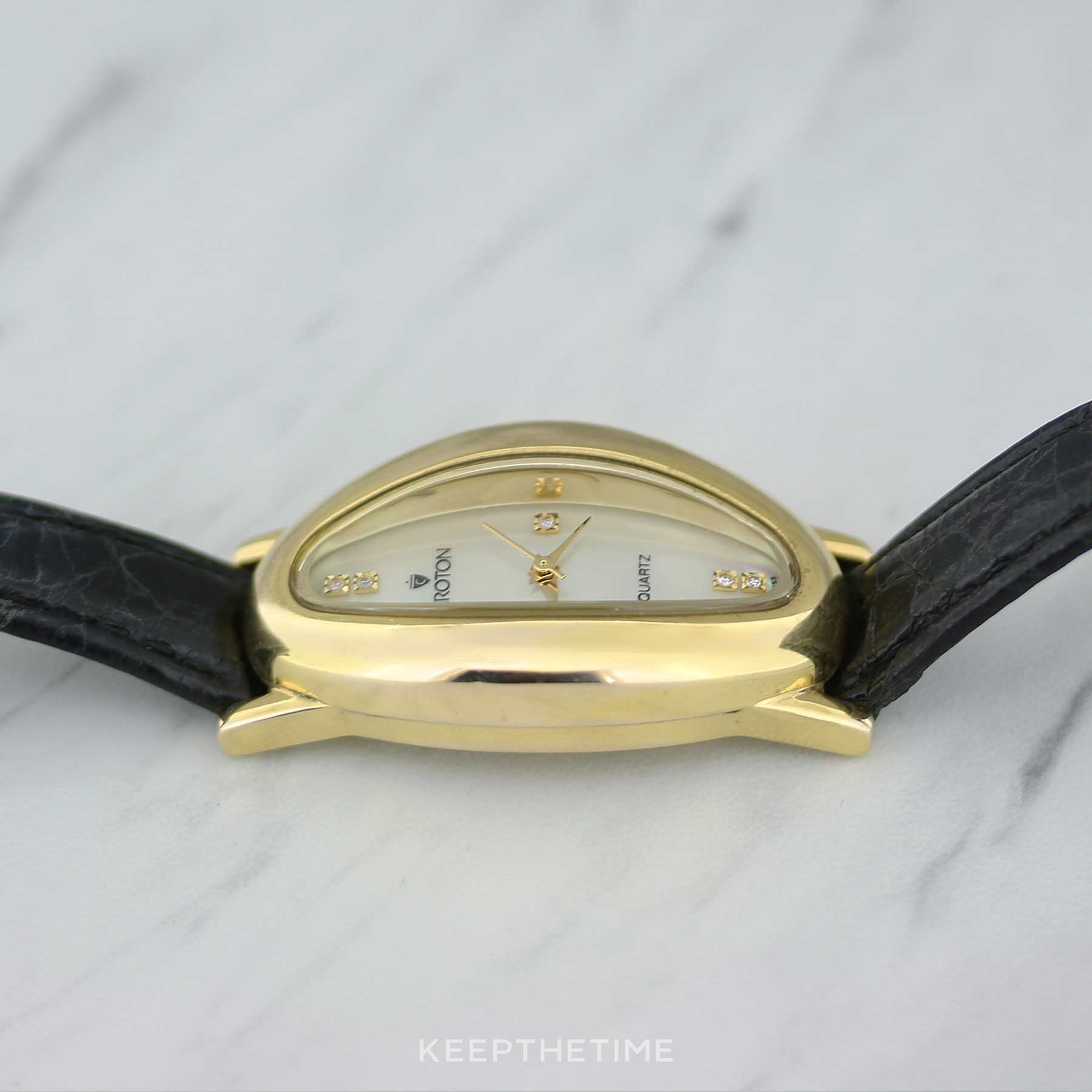 Croton Mother of Pearl 18K Gold Ladies Watch