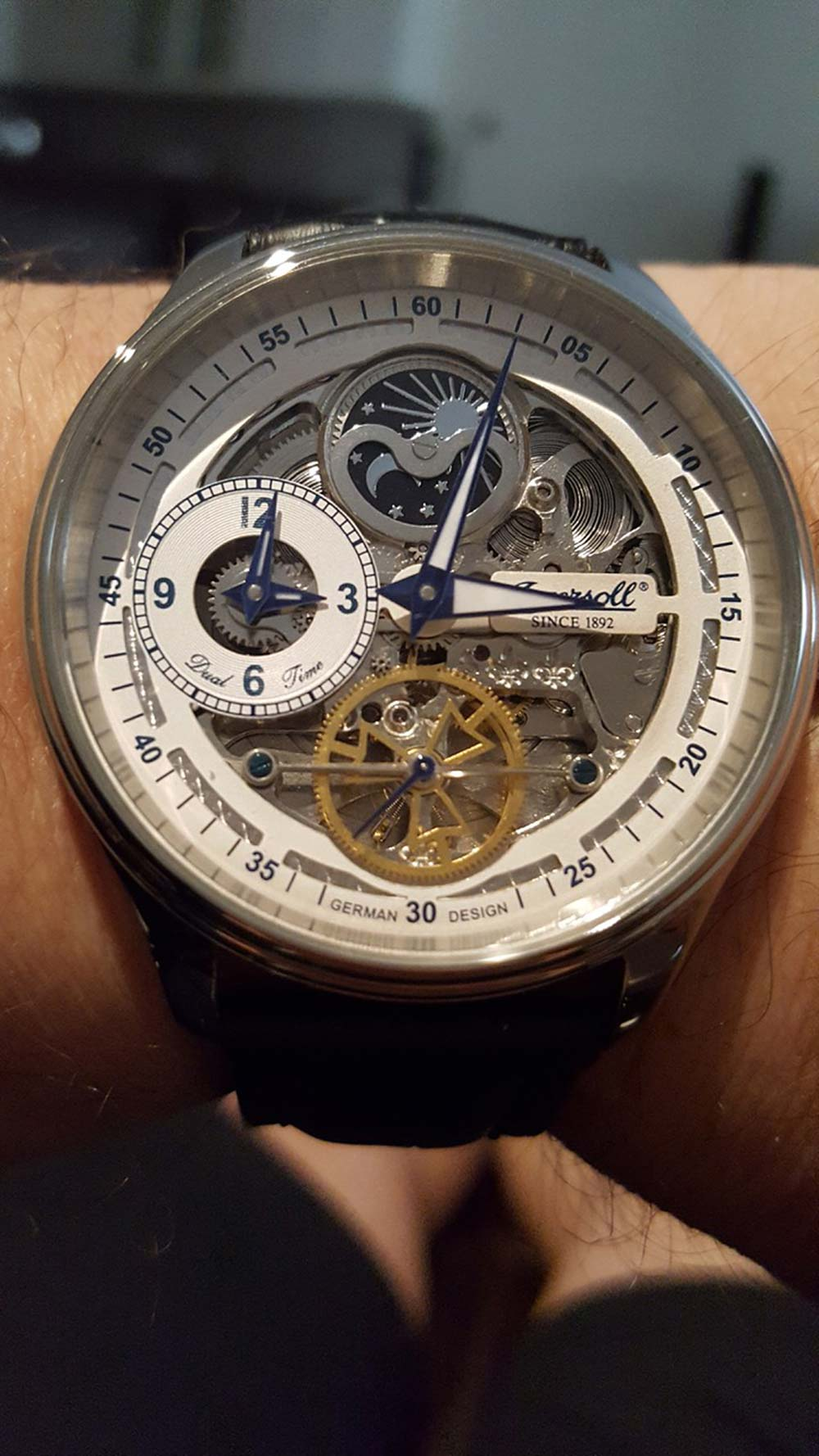 Ingersoll Boonville Skeleton Dial Watch