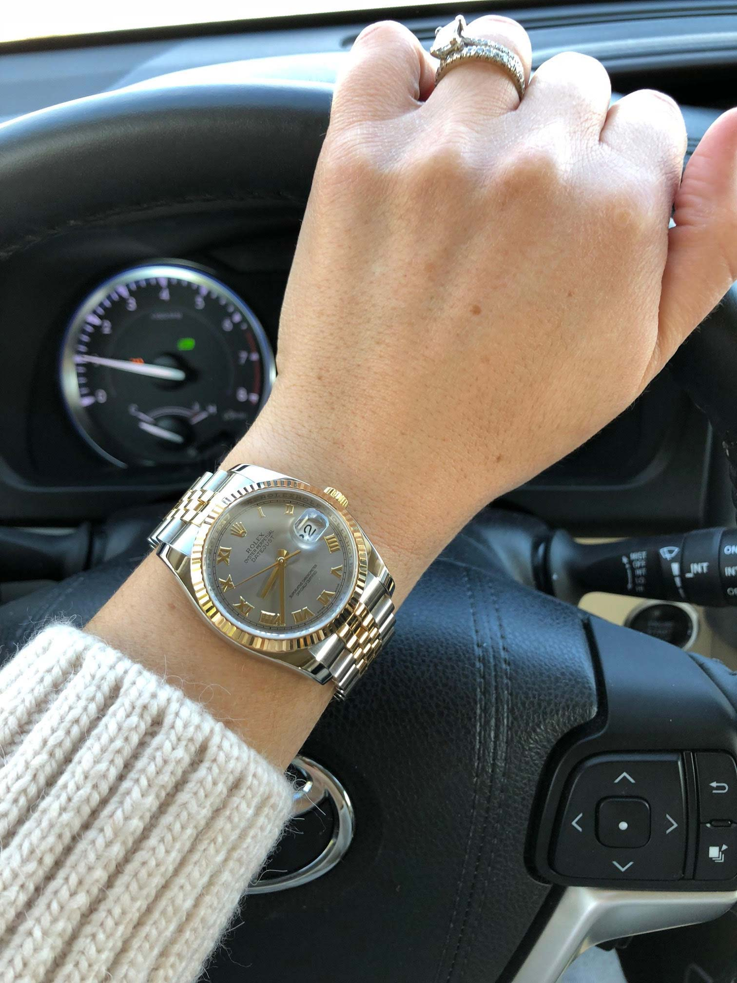 Customer Review: Rolex Datejust 36 Ladies Wristshot ...Rolex Datejust 36mm On Wrist