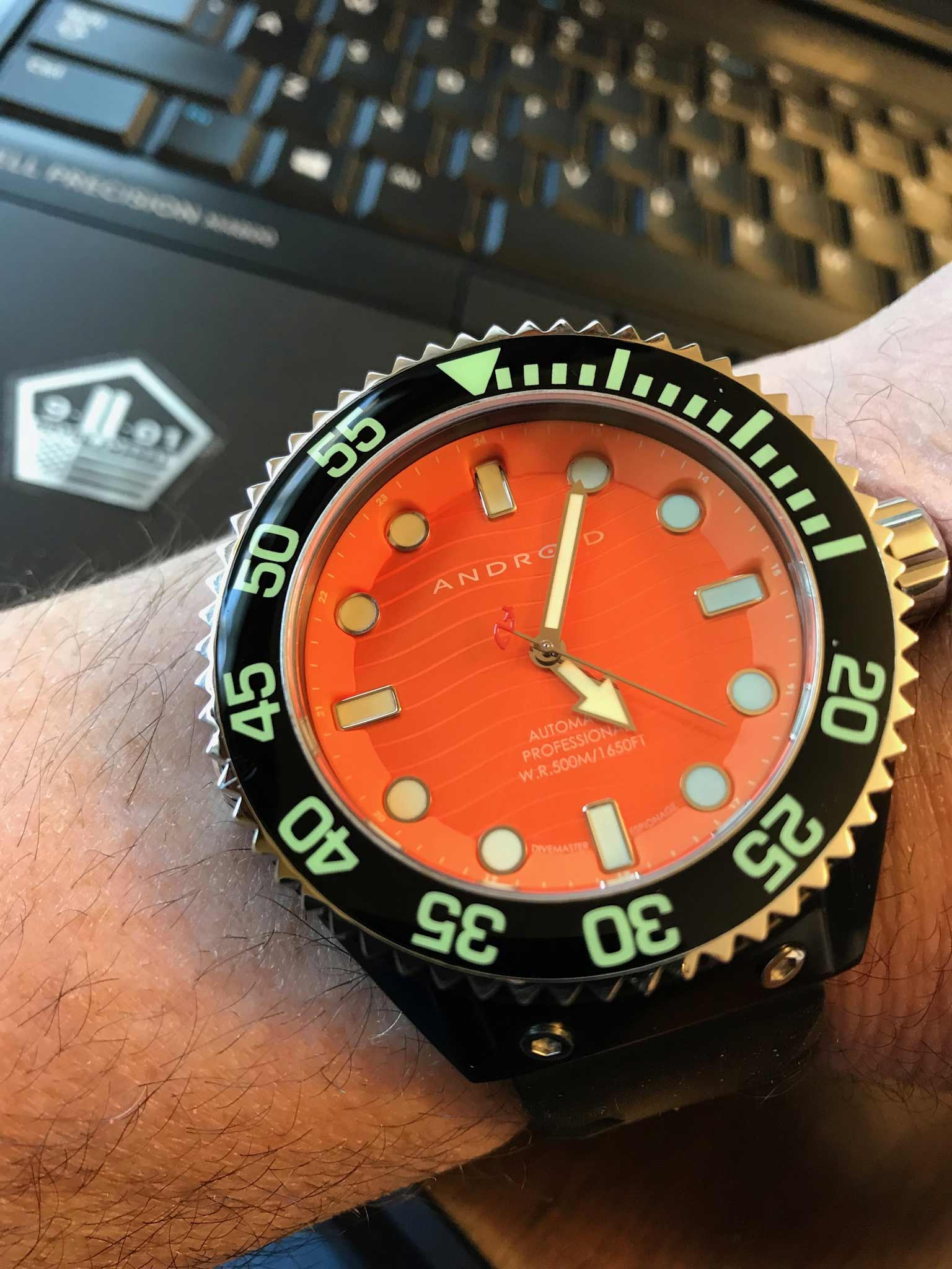 Android Watch Divemaster Wristshot Aaron