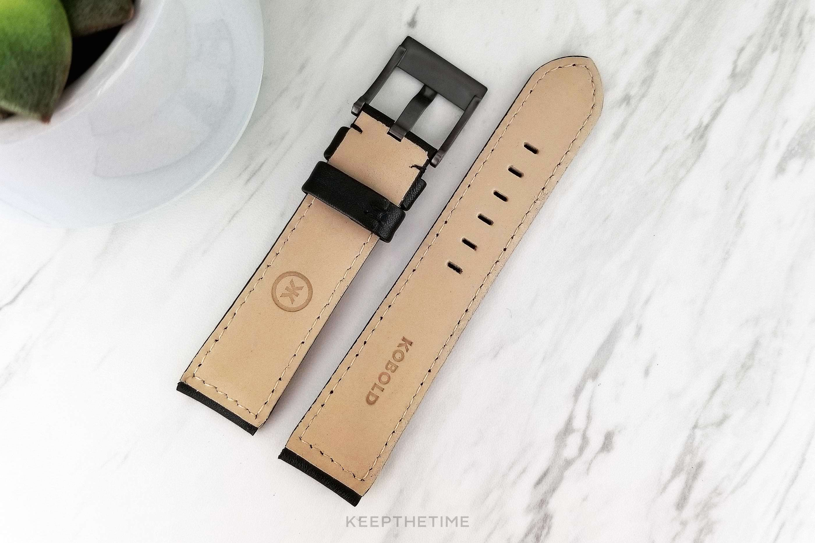 Kobold Black Calfskin Leather Watch Strap 10