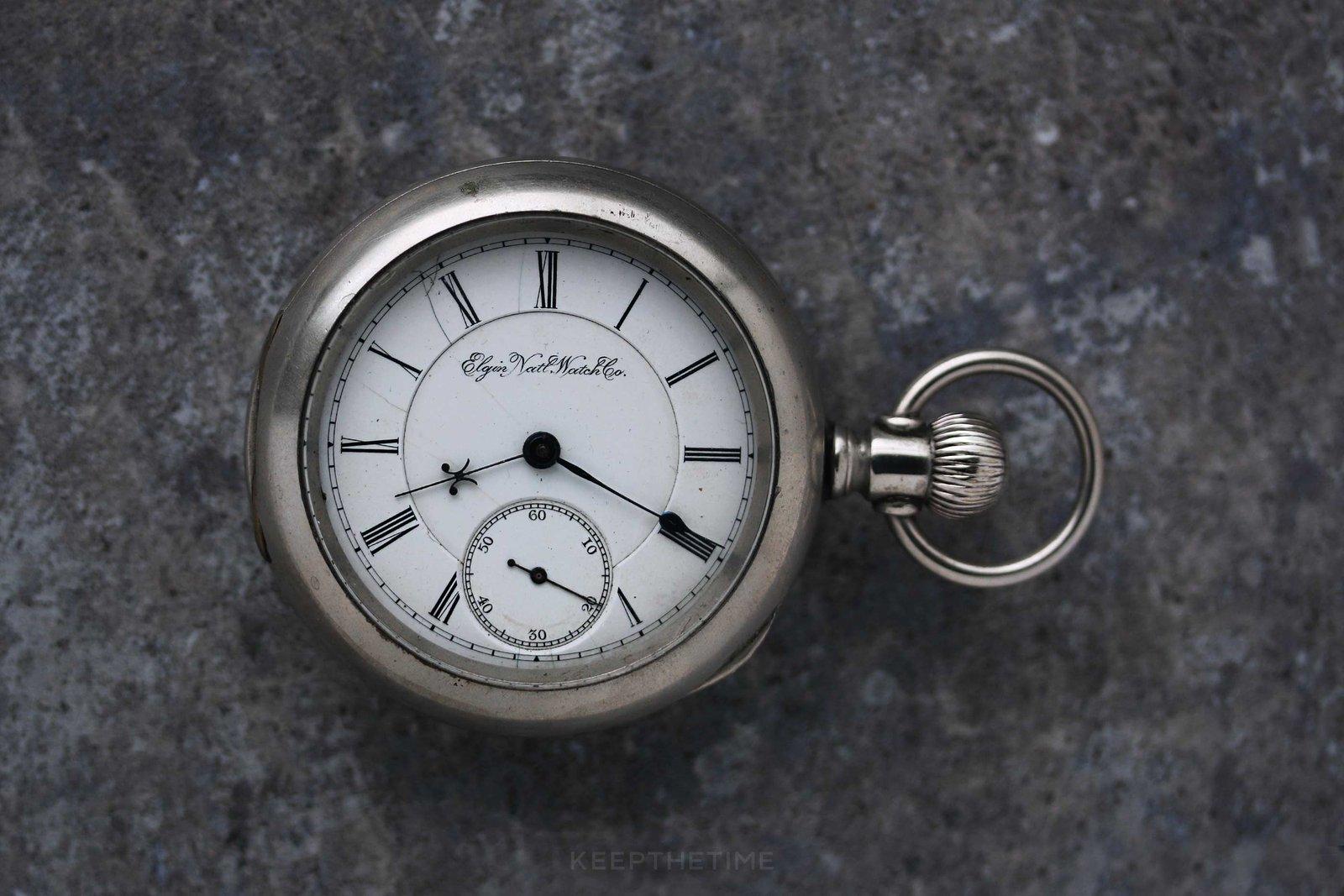 501805497 Vintage Elgin B.W. Raymond Pocket Watch from 1890