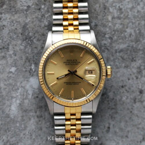 Rolex Datejust 16013 Two-Tone Champagne Dial