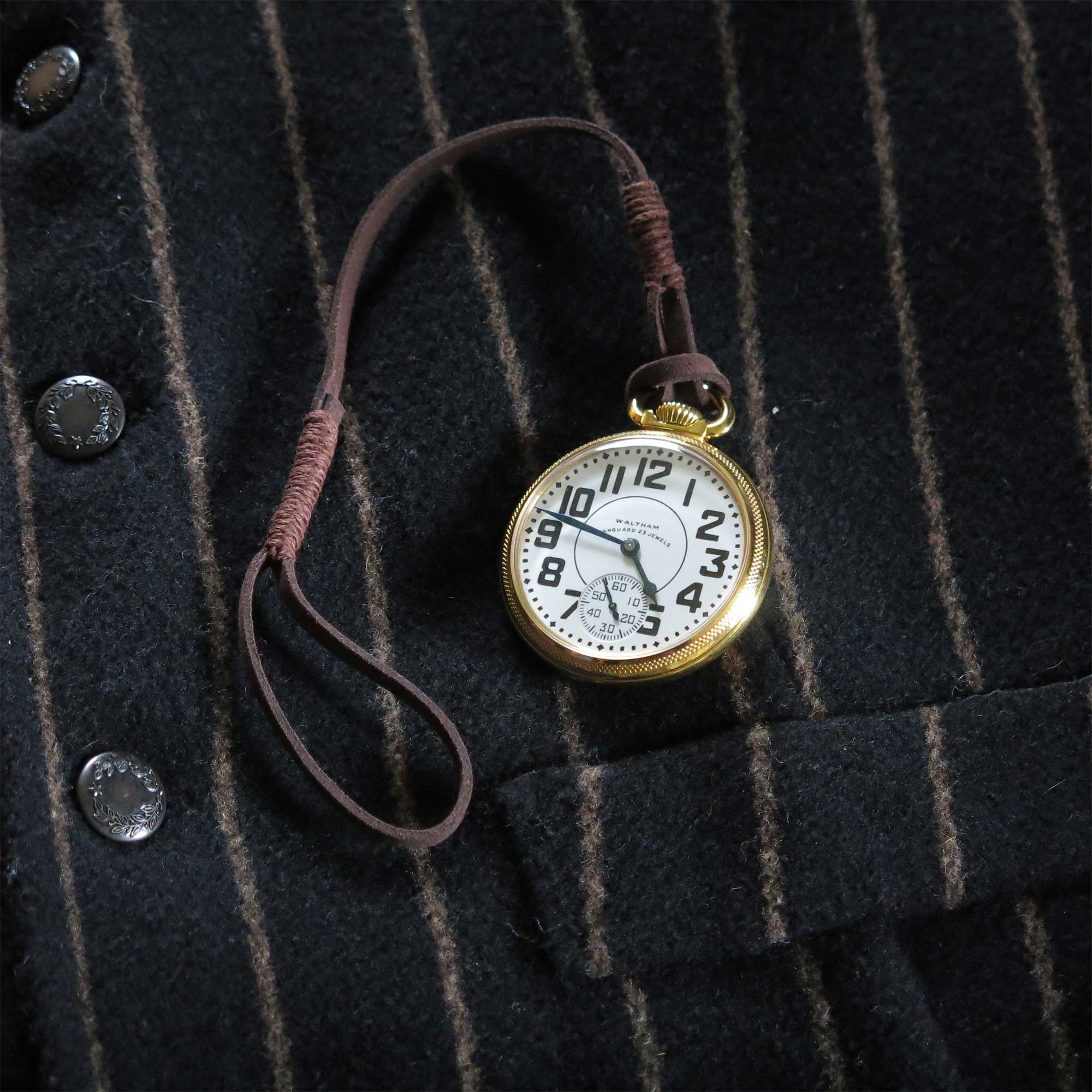 Waltham Vanguard Vegan Pocket Watch Fob Keepthetime