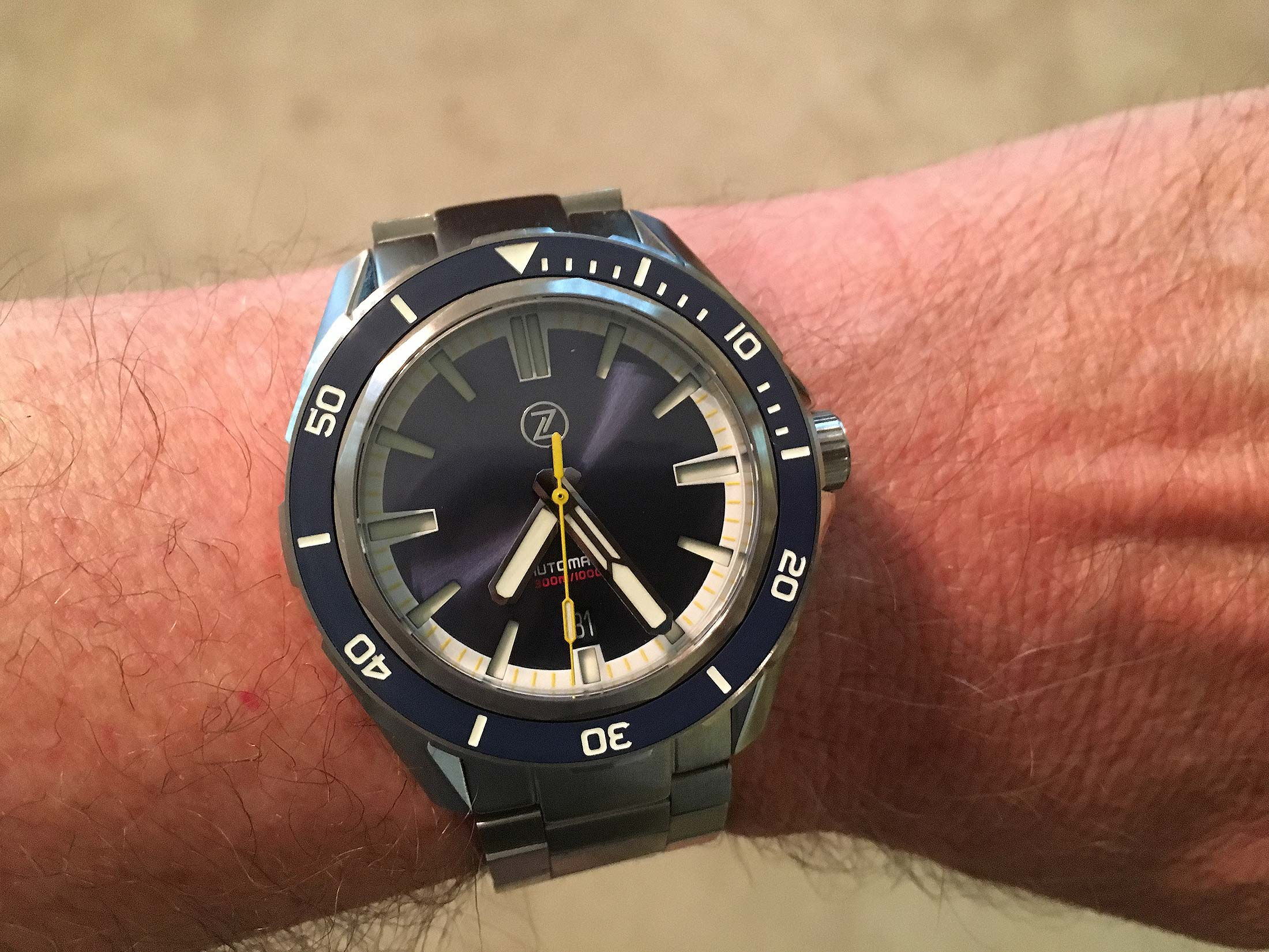 Zelos Swordfish Dive Watch Wristshot Mike