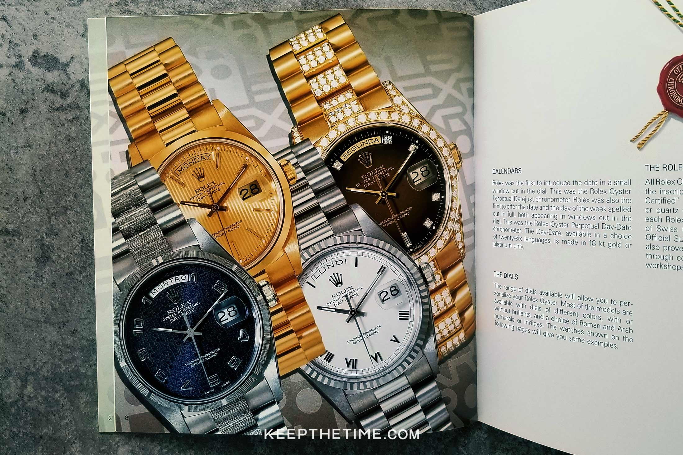 Rolex Oyster Catalog from 1991