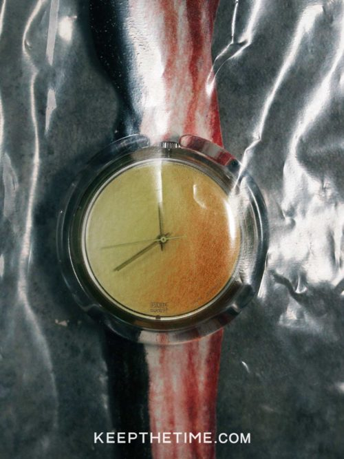 1991 Swatch Bacon and Egg Watch by Alfred Hofkunst