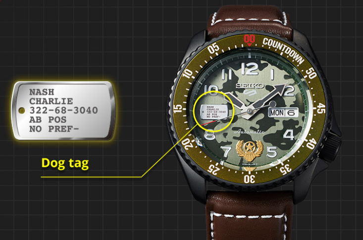 Guile Seiko Street Fighter Watch
