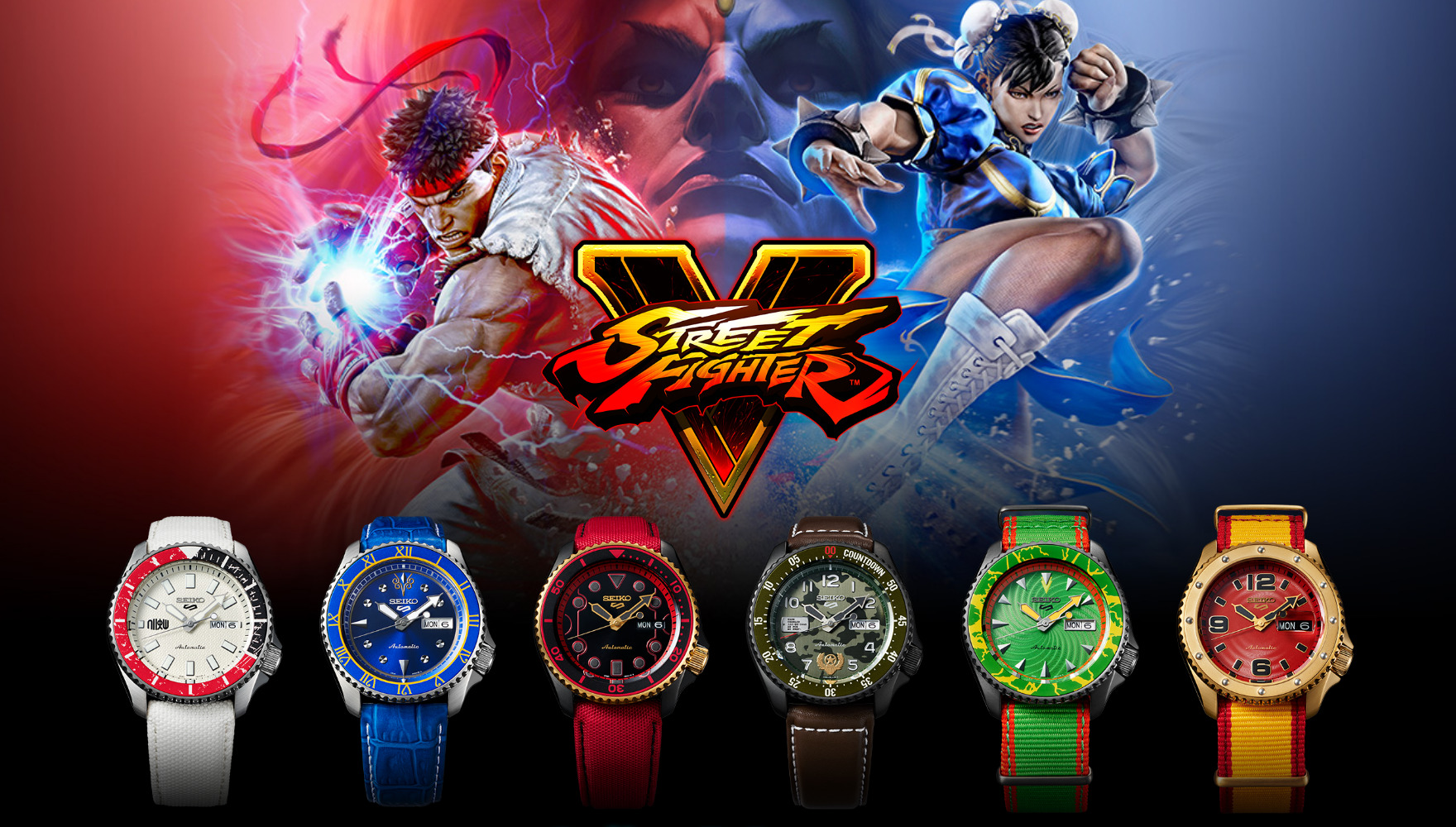 Seiko 5 Street Fighter V Watches