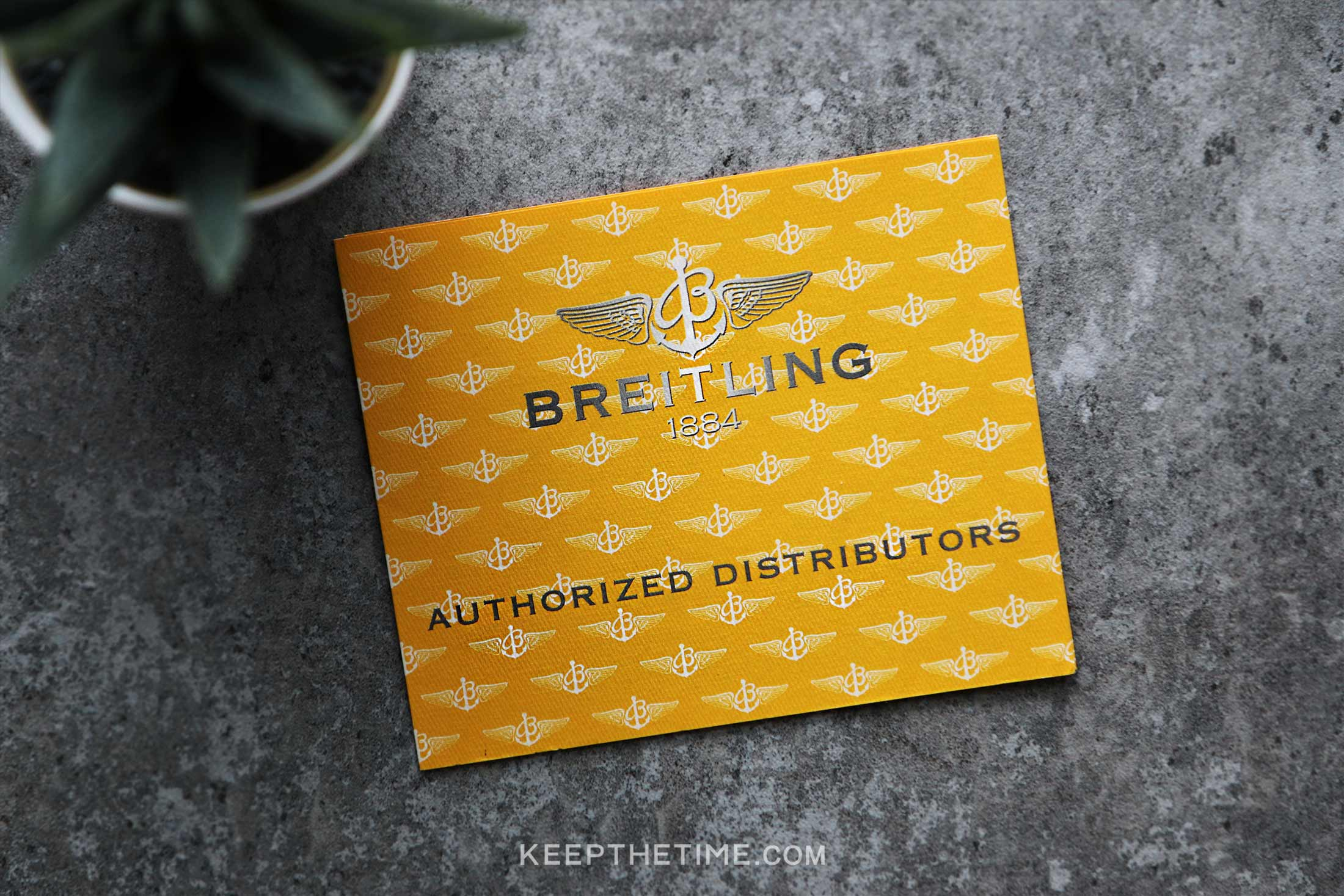 Breitling Authorized Distributors Card