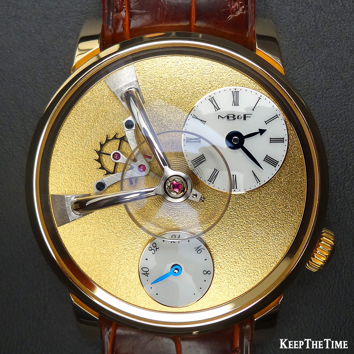 Mbf Lm101 Frost Legacy Machines Gold Watch