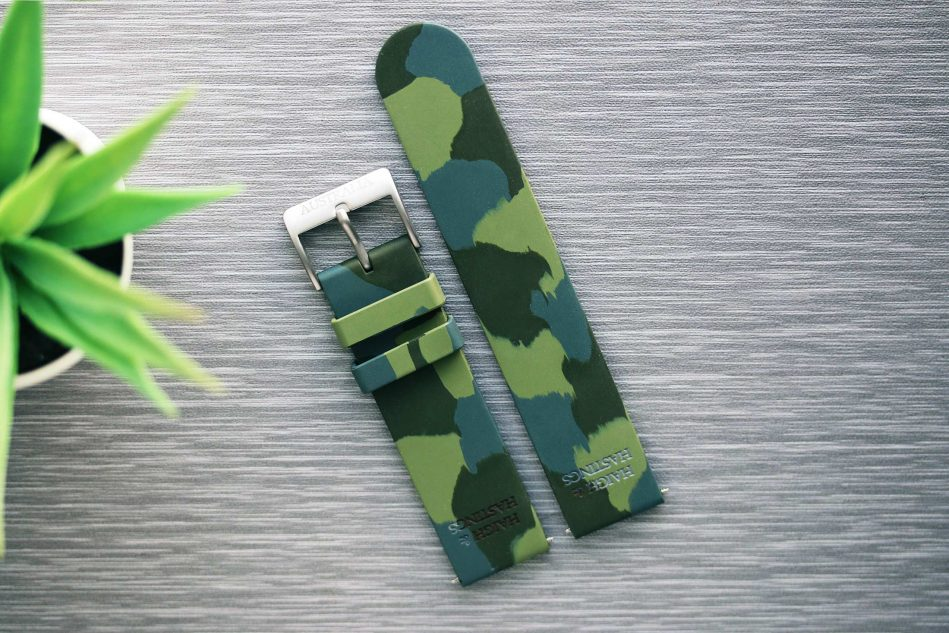Haigh & Hastings Rubber Camo Strap | 22mm