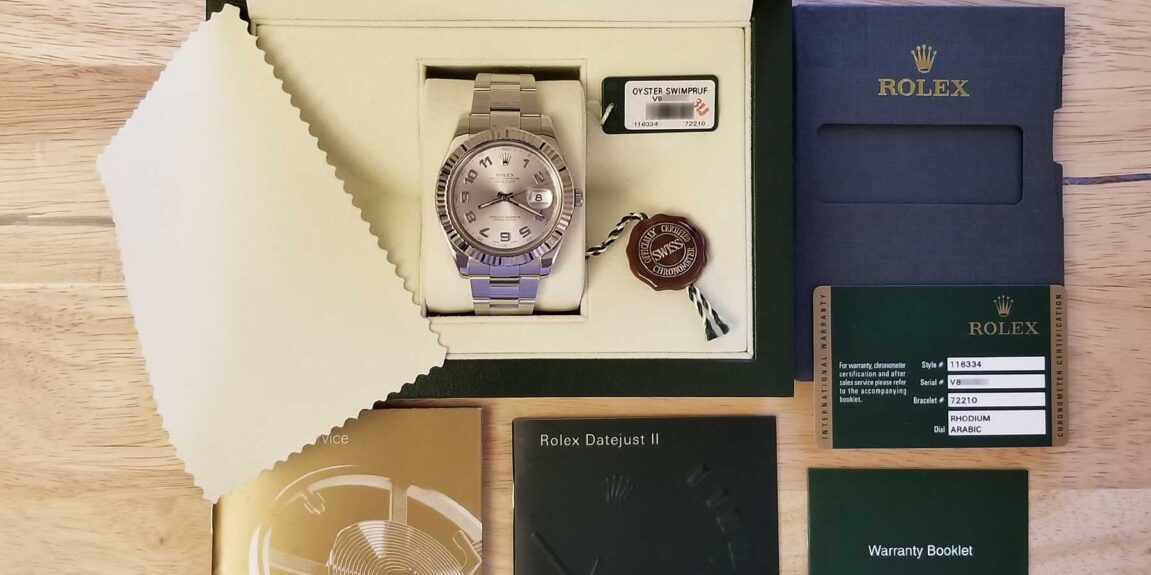 Watch box and papers