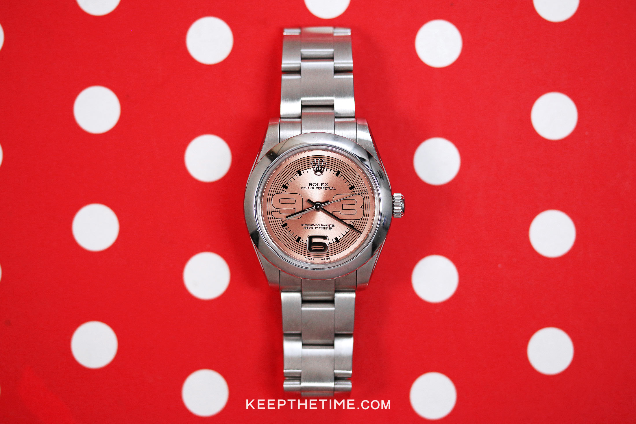 Rolex Oyster Perpetual 31 Pink 369 Dial