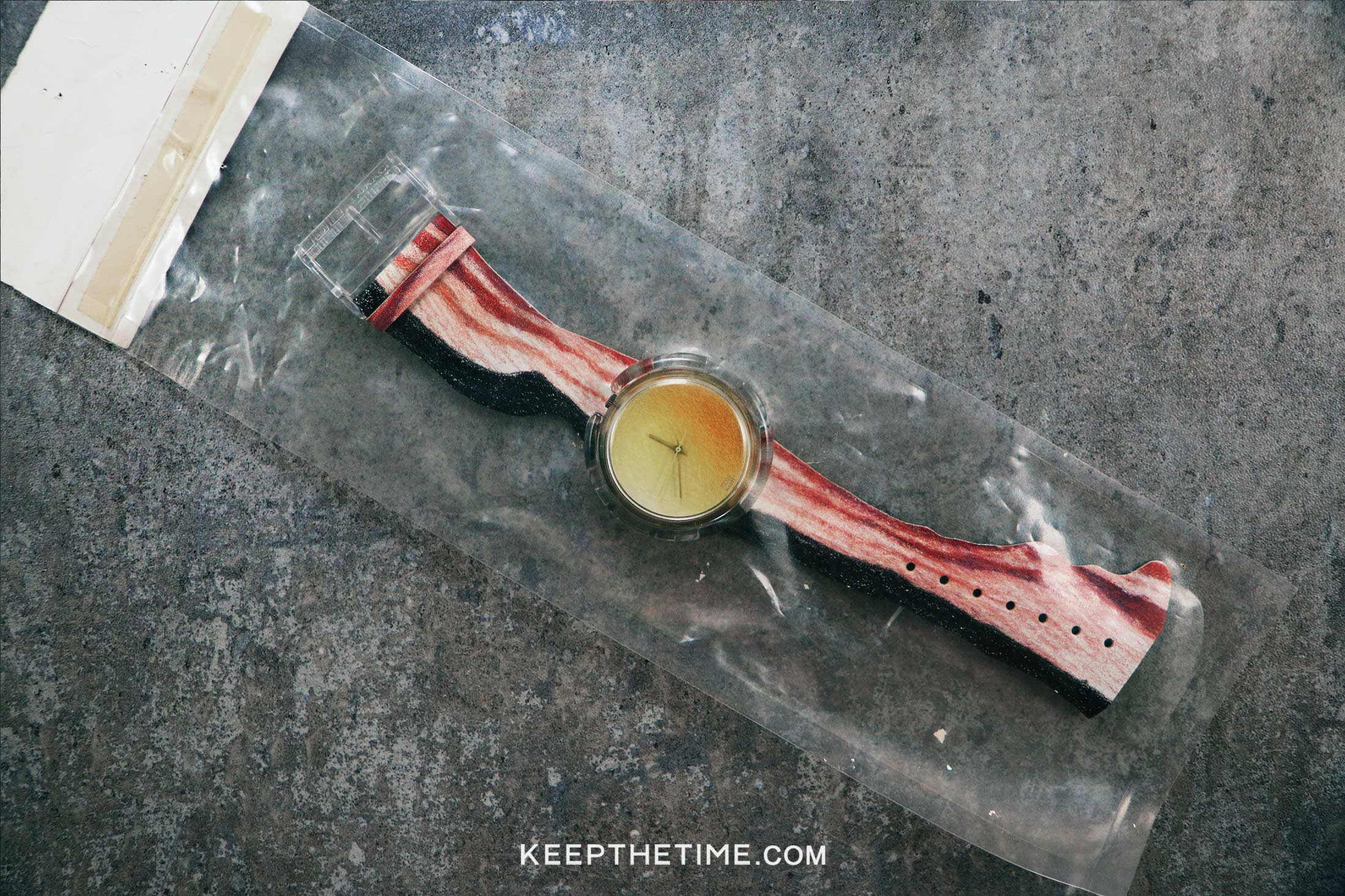 Swatch 1991 Vintage Bacon And Eggs Watch