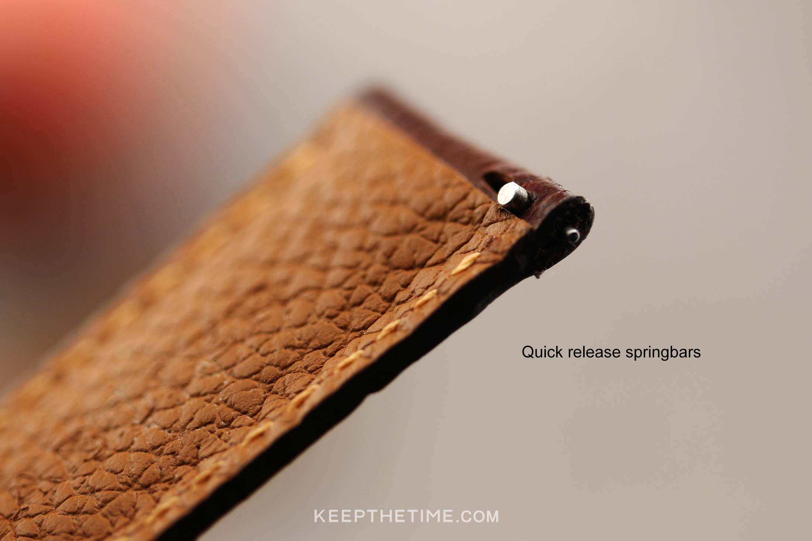 Sablier Brown Leather Watch Strap