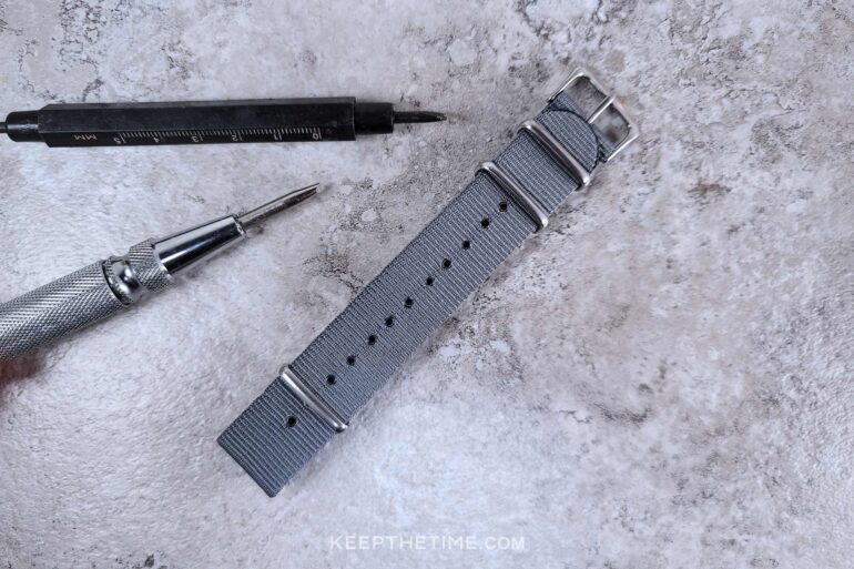 Moon Dust Silver Military Strap