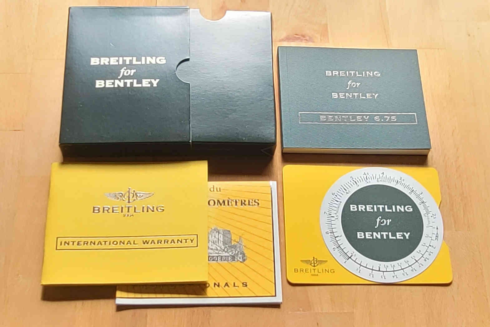 Breitling for Bentley 6.75 Papers Set