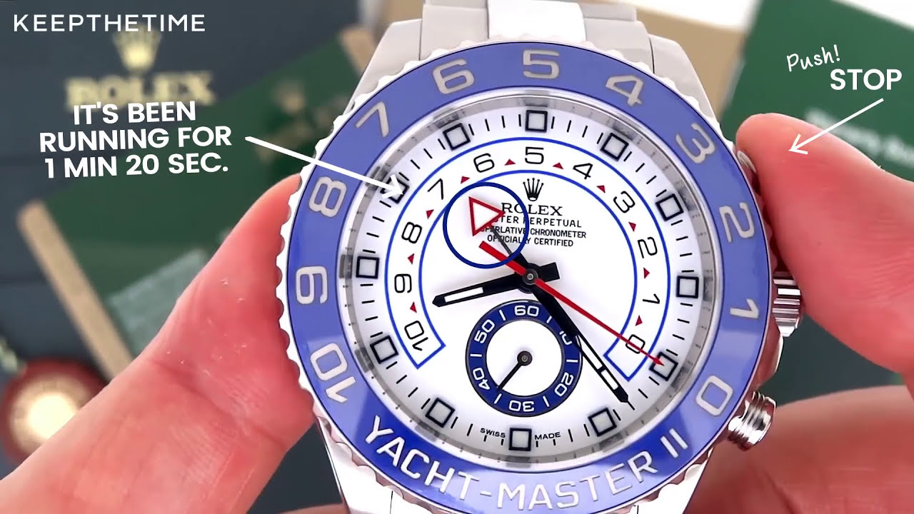 How To Set The Rolex Yacht Master Ii