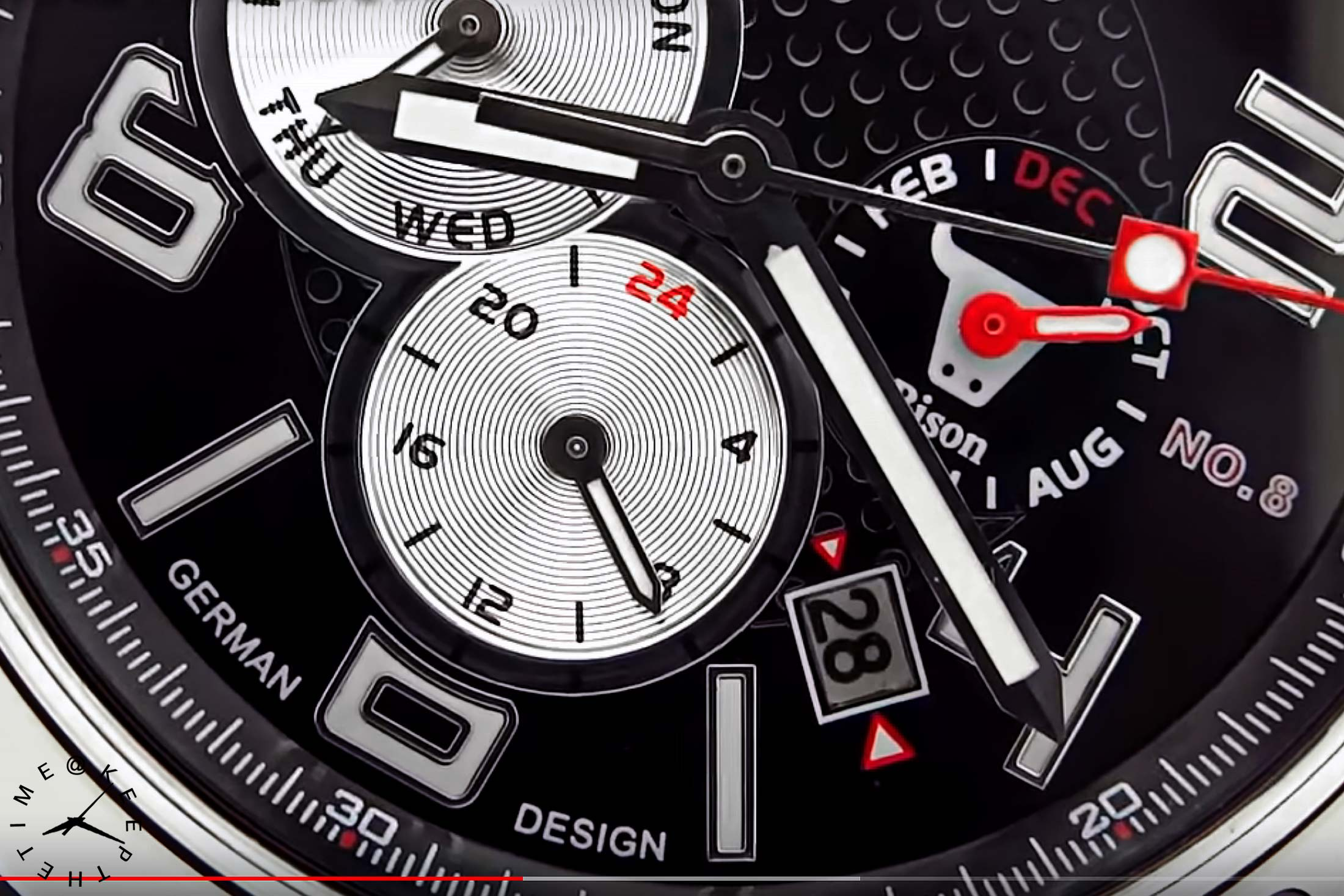 Ingersoll Bison 8 Reverse Panda Dial Watch